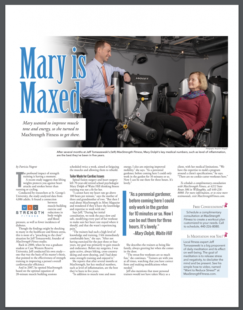 In the News - MaxStrength Fitness